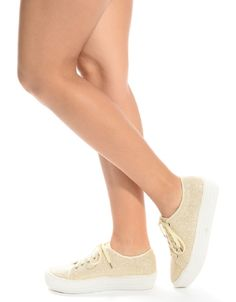 Shop ModDeals.com for CHAMPAGNE Glittered Platform Sneakers in our cheap trendy Shoes category. Find trendy cheap clothing for women, discount shoes, jewelry sales, perfume & cheap accessories for wom