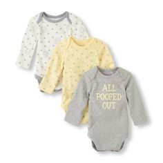 Adorable for boy/girl! Three times the essential bodysuit for baby! #bigbabybasketsweeps