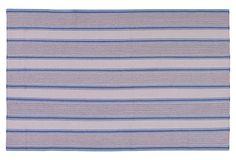 $259-- 5x8 feet  Farmhouse Flat-Weave Rug, Silver on OneKingsLane.com