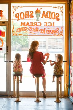 I should draw on all our Windows! Just A City Boy, Old Fashioned Ice Cream, Vintage Sweets, Mom Daughter, Daughters, Ice Cream Parlor, Small Town Girl, Cute Photography, Soda Fountain