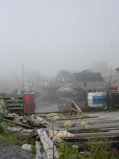 the fog rolling in at Peggy's Cove, Nova Scotia...amazing!!