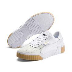 Cali Exotic Women's Sneakers, Puma White-Puma White, large Sneakers Mode, Grey Sneakers, Sneakers Fashion, Fashion Boots, Tennisschuhe Outfit, Puma Store, Puma Cali, Puma Basket, Puma Sneaker