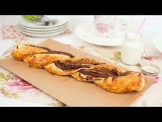 Nutella Puff Pastry Braid - Easy Chocolate Puff Pastry Dessert Recipe - http://www.bestrecipetube.com/nutella-puff-pastry-braid-easy-chocolate-puff-pastry-dessert-recipe/
