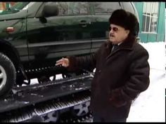 Russian gizmo turns your old beat up Lada Niva into a snow cat.  But first you have to hire an interpreter...