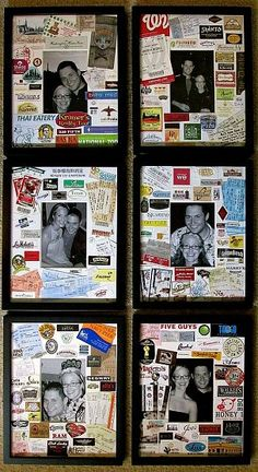 Picture Collage-with momentous from life together as matting