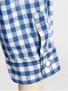 【インディゴチェック7分袖シャツ】全体にブリーチを効かせたインディゴチェック柄シャツ。これからの…