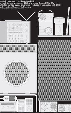 Systems Print Collection: A Two-dimensional Tribute To Dieter Rams' Designs // Poster Designed by Neubau (Braun 121 series). Dieter Rams Design, Braun Dieter Rams, International Typographic Style, Otl Aicher, Braun Design, Blog Design Inspiration, Design Ideas, Poster Series, Branding