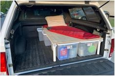 The instructions for this sleeping platform is for Full-Size Trucks (Long Bed and Short Bed) and is easily adapted to Mid-Size Trucks. It is simple to build, is light weight and has efficient under-bed storage. The downloaded PDF Plans includes a materials list, required tools, photos, drawings and Truck Cap Camping, Camping Set Up, Truck Camping, Truck Topper Camping, Camping Ideas, Pickup Camping, Camping Hacks, Tent Camping Beds, Minivan Camping