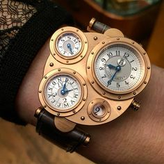 The amazing Vianney Halter, Antiqua on the wrist of a lady.