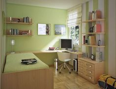 Small Bedroom Decorating With Green Color Schemes Part 42