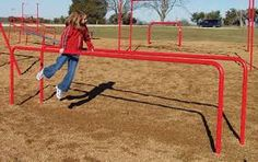The Parallel Bars are great for developing basic gymnastic skills. Physical fitness trainer for gymnastic skills. Parallel bars in playgrounds also assist in the development of swinging maneuvers. Outdoor Fitness Equipment, Sports Equipment, No Equipment Workout, Pole Climbing, Fitness Courses, Fitness Tips, Commercial Playground Equipment, Workout Essentials, Ideal Body