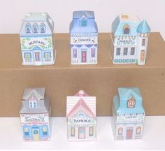 Lenox 1989 Porcelain Spice Village Choice of 6 Different Designs with Free Ship #Lenox