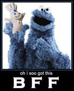 Cookie Monster and the Pillsbury Doughboy