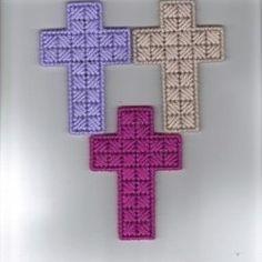Easy plastic canvas cross