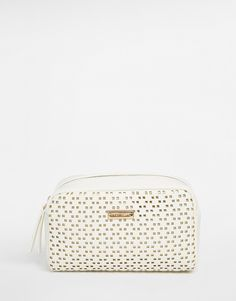 River Island White Lace Make Up Bag