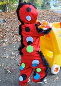 No Sew Monster Costume. Seriously, you can whip this one up in minutes! Great for all ages, boys or girls | AllFreeKidsCrafts.com