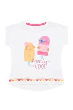 Beyaz Kız Bebek Kısa Kollu T-Shirt MOTHERCARE   Trendyol