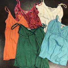 Lot of 5 Aeropostale tanks Lot of comfy tanks perfect for summer all mediums Aeropostale Tops Tank Tops