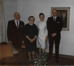 Daniel Metzger - Harriet Bruner Wedding Day, 19 Feb 1966 with Harold and Gertrude Bruner