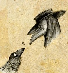 http://fc02.deviantart.net/fs70/f/2010/078/8/b/Raven_and_Plague_Doctor_by_Skia.jpg