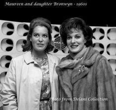 Maureen O'Hara & her daughter Bronwyn ..c.1960s