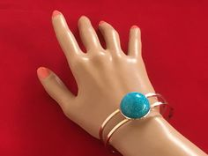 Excited to share this item from my shop: Statement Cuff Bracelet with Startlingly Blue Sparkling Stone - Colour Therapy Jewellery, Medium Size Colour Therapy, Handmade Jewelry, Sparkle, Hair Accessories, Jewellery, Stone, Medium, Bracelets, Silver