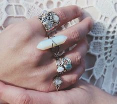 jewels ring silver stones jewelry silver ring boho chic boho jewelry bohemian rings and tings white rings silver crystal wire wrapped jewelry Boho Jewelry, Jewelry Box, Jewelry Accessories, Fashion Jewelry, Jewlery, Boho Rings, Cheap Jewelry, Jewelry Rings, Fine Jewelry