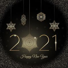 Happy new year 2021 golden decoration images and pictures for friends. The New Year ahead has bought another chance for us to set things straight and open up a new chapter in our lives. New Year Images Hd, New Year Pictures, Cool Pictures, Pictures For Friends, New Year Banner, New Year Wallpaper, New Years Background, Party Poster, Party Flyer