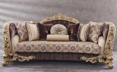 Awesome European Decor Ideas For Anyroom 31 - Aksa. Turkish Furniture, Sofa Furniture, Furniture Design, Luxury Furniture Stores, Victorian Sofa, European Decor, Sofa Set Designs, Classic Living Room, Classic Sofa