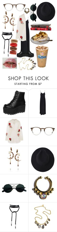"""""""Silver lining, you get to see moi!"""" by adventuregirl12 ❤ liked on Polyvore featuring Y.R.U., Boohoo, Ashish, Oliver Peoples, Diego Percossi Papi, Halftone Bodyworks and Dara Ettinger"""
