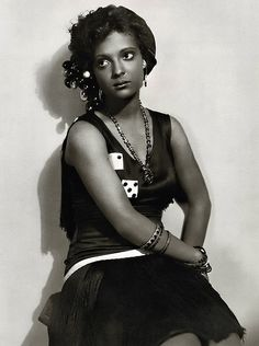 """Nina Mae McKinney (1913 - 1967) was an American actress. Dubbed """"The Black Garbo"""", she was one of the first African-American film stars and was one of the first African-Americans to appear on British television, featuring in the demonstration film broadcast each morning for the benefit of installers and engineers.  Vintage African American photography courtesy of Black History Album, The Way We Were.  Follow Us On Twitter @blackhistoryalb"""