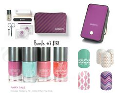 Bundle #3 This is for the Lady who likes Jamberry but also still loves her polish! This highlights the Five Free Polish Jamberry is becoming famous for. BrandiL.jamberrynails.net