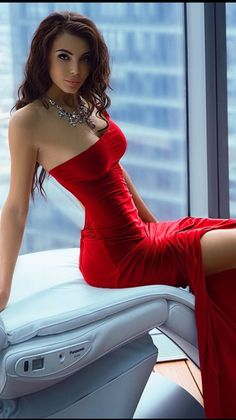 Sexy Lady in Red Dress Sexy Dresses, Sexy Outfits, Beautiful Dresses, Evening Dresses, Mode Glamour, Sexy Women, Beauty And Fashion, Femmes Les Plus Sexy, Moda Chic