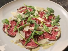 Ina Garten Filet of Beef Carpaccio Recipe from Food Network Food Network Recipes, Food Processor Recipes, Carpaccio Recipe, Beef Recipes, Cooking Recipes, Yummy Recipes, Yummy Food, Pro Cook, Gastronomia