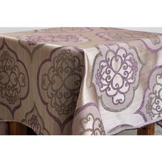 Geometric Lavender Damask Curtain Fabric Upholstery by FabricMart, $11.25