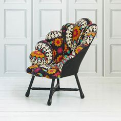 Pop our playful Rococo clamshell inspired chair in to your room & you've instantly upped the ante. Now available in a vivid and eye catching...