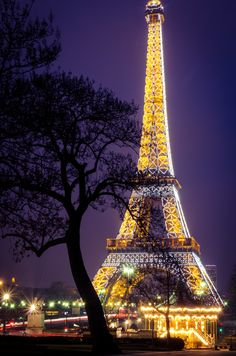 Paris - City of Light.   Our family and Wanda & Bill ate dinner in the restaurant at the top of the Eiffel Tower.