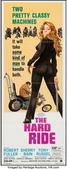 The Hard Ride Movie Poster Insert Horror Movie Characters, Cult Movies, Action Movies, Ride Movie, Biker Movies, Motorcycle Baby, Movie Market, Classic Movie Posters, Internet Movies