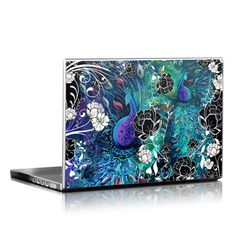Laptop Decal - Peacock Garden by Juleez - I want this!