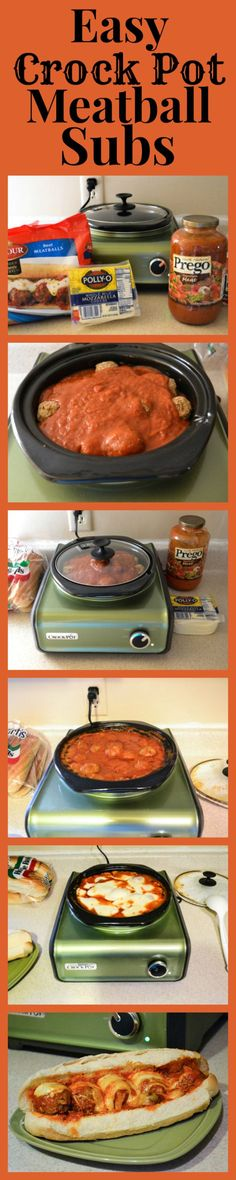 Crock Pot Recipes | Having an easy to make recipe like this Crock Pot Meatball Sub recipe helps me get everything done for the holidays and have a great meal on the table for my family.