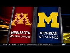 Minnesota at Michigan - Football Highlights - YouTube