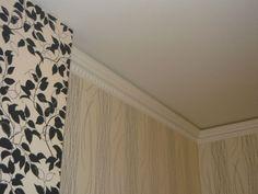 Багет (потолочный плинтус), молдинг, покраска.