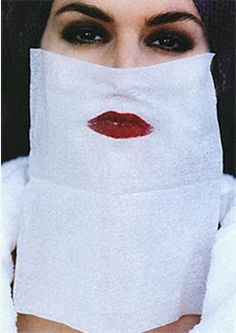 Cindy Crawford by Helmut Newton  #red #lips