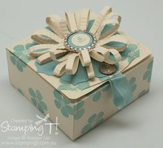 Pop 'n Cuts Gift Box - click image for link to video tutorial or use this one http://stampingt.com.au/blog/?p=5437    created by Tanya Bell Bundaberg,Independent Demonstrator Stampin' Up! Australia