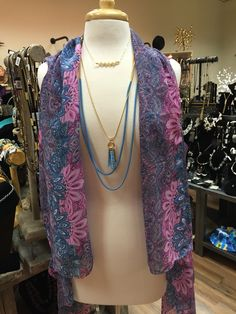 Layered Necklace and Fashionable Vest