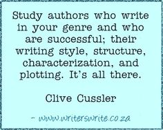 clive cussler writing advice