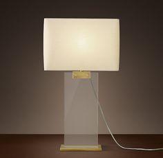 Rectangular Column Crystal Table Lamp