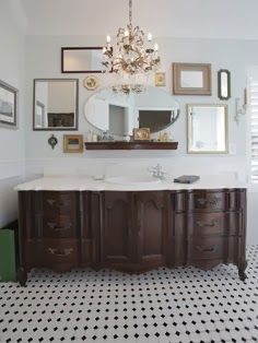 I wish we did this when we gutted our bathroom a few years back. If I ever find the perfect piece, I just might have to make the switch. T...