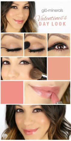 A Romantic Valentine's Day Look Step by Step Mineral Makeup Tutorial with glo minerals