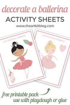 Hands-on activities are a great way to learn. That's why this printable pack that lets children decorate a ballerina is so much fun! This resource includes: Printable Decorate a Ballerina Activity Sheets Grab Yours NOW! Ballerina Art, Ballerina Birthday, 4th Birthday, Birthday Ideas, Fun Activities To Do, Toddler Activities, Activity Sheets, Homeschool, Preschool Curriculum